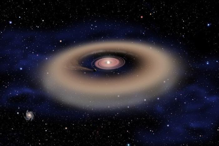 Artistic impression of a gas dwarf formation - Credit David A. Aguilar (CfA - Harvard)